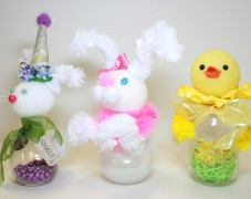 Easter Chick and Bunny Jars