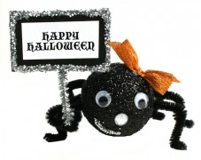 Halloween Spider with Sign