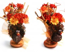 Harvest Turkey Vase