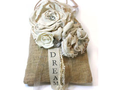 Fabric Rose Dream Bag
