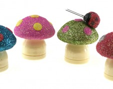 Glittered Mushrooms