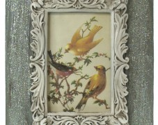 Glittered Vintage Bird in Frame