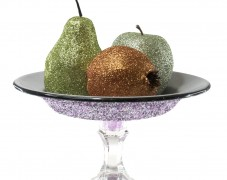 Glittered Fruit in Vintage Bowl