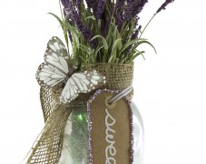 Glittered Glass with Floral Arrangements