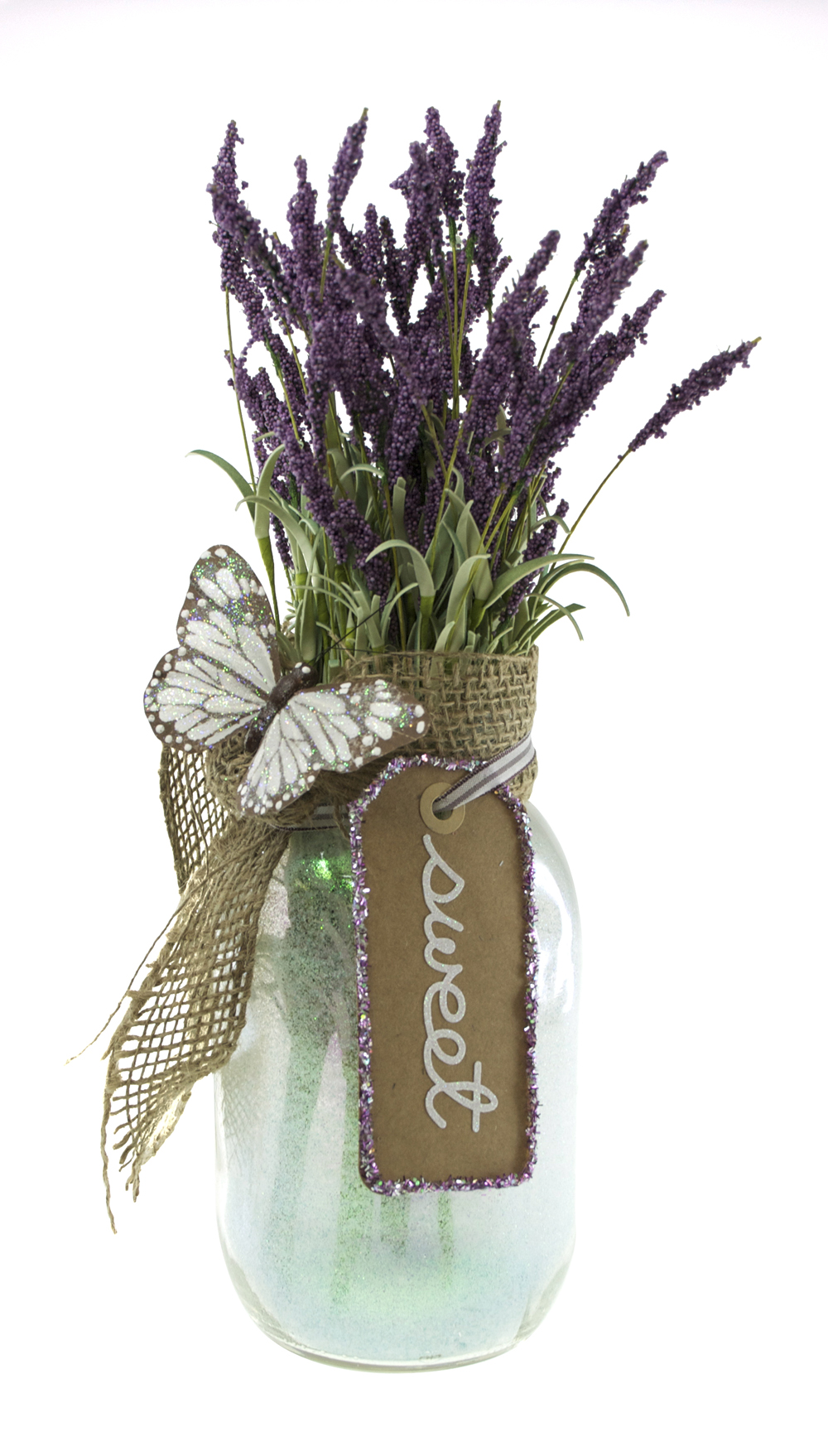 Glittered Floral Arrangements with Beacon Glitter-It! Glue