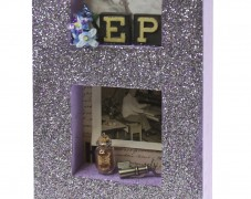 Vintage Glitter Shadow Box Frame