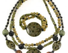 Safari Style Necklace & Bracelet Set
