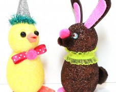 Glittered Easter Friends