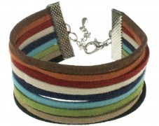 Suede Striped Bracelet