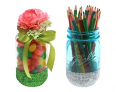 Glittered Candy Jar & Pencil Holder