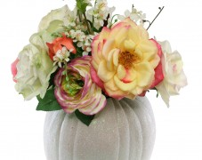 Autumn Pumpkin Floral Centerpiece