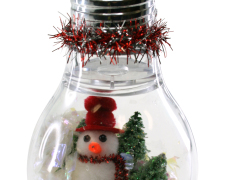 Lightbulb Snowman Ornament