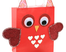 Valentine's Day Owl Gift Bag