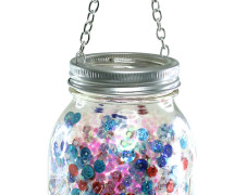 Hanging Sparkle Mason Jar