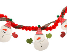Jolly Snowman Garland