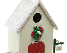 Christmas Church Birdhouse