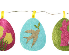 Glitter Easter Egg Garland