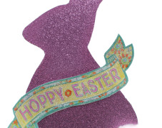 Glittery Easter Bunny with Banner