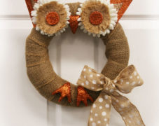 Autumn Owl Wreath
