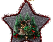 Glitter Star Reindeer Ornament