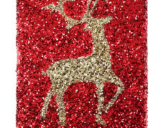 Glittered Reindeer Canvas