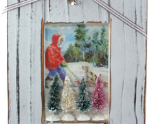Snowy Winter Scene Frame